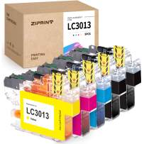 ZIPRINT Compatible Ink Cartridge Replacement for Brother LC3013 LC3011 use with Brother MFC-J491DW MFC-J895DW MFC-J690DW MFC-J497DW Printer (5 Pack - 2 Black,1 Cyan, 1 Magenta, 1 Yellow)