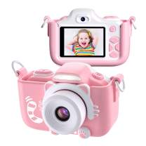 Kids Camera for Girls Gifts,TURNRAISE HD 2.0 Inches Screen 16.0MP Shockproof Selfie Toy Camera with Flashlight,Mini Child Video Camera Camcorder for 3-14 Kids with Soft Silicone Case