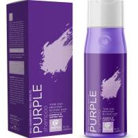 Purple Shampoo for Blonde Hair Toner - Sulfate Free Shampoo for Color Treated Hair plus Keratin Hair Treatment for Dry Damaged Hair with Jojoba Oil for Hair Growth - Blonde Shampoo for Brassiness