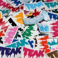 Teak Tuning Mini Teak Vinyl Stickers, Pack of 3, Multicolor