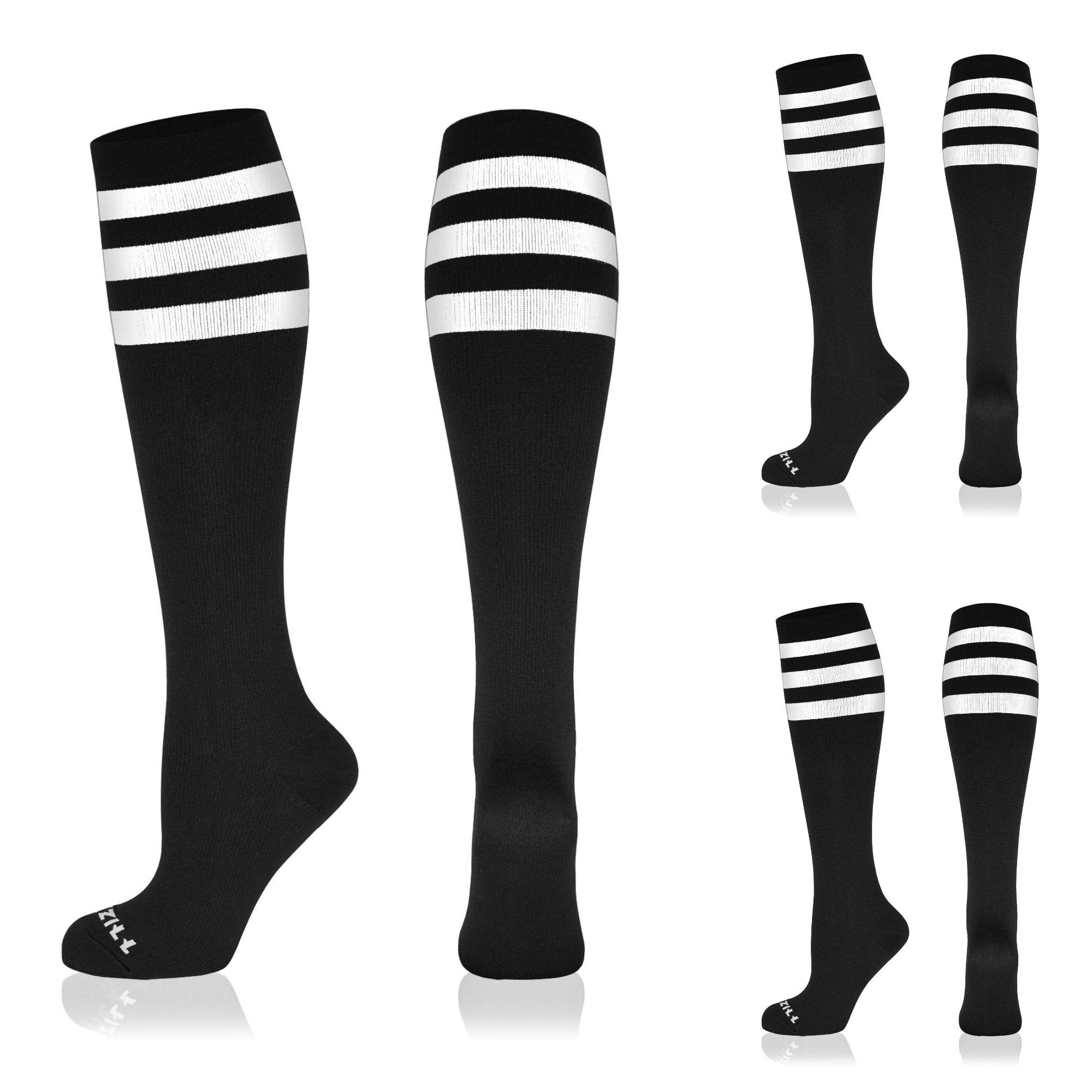 3 Pairs NEWZILL Compression Socks for Women & Men Circulation 20-30 mmHg is Best Support for Athletic Running Cycling