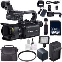 Canon XA15 Compact Full HD ENG Camcorder #2217C002 + 64GB Memory Card + BP-820 Replacement Lithium Ion Battery Bundle 1