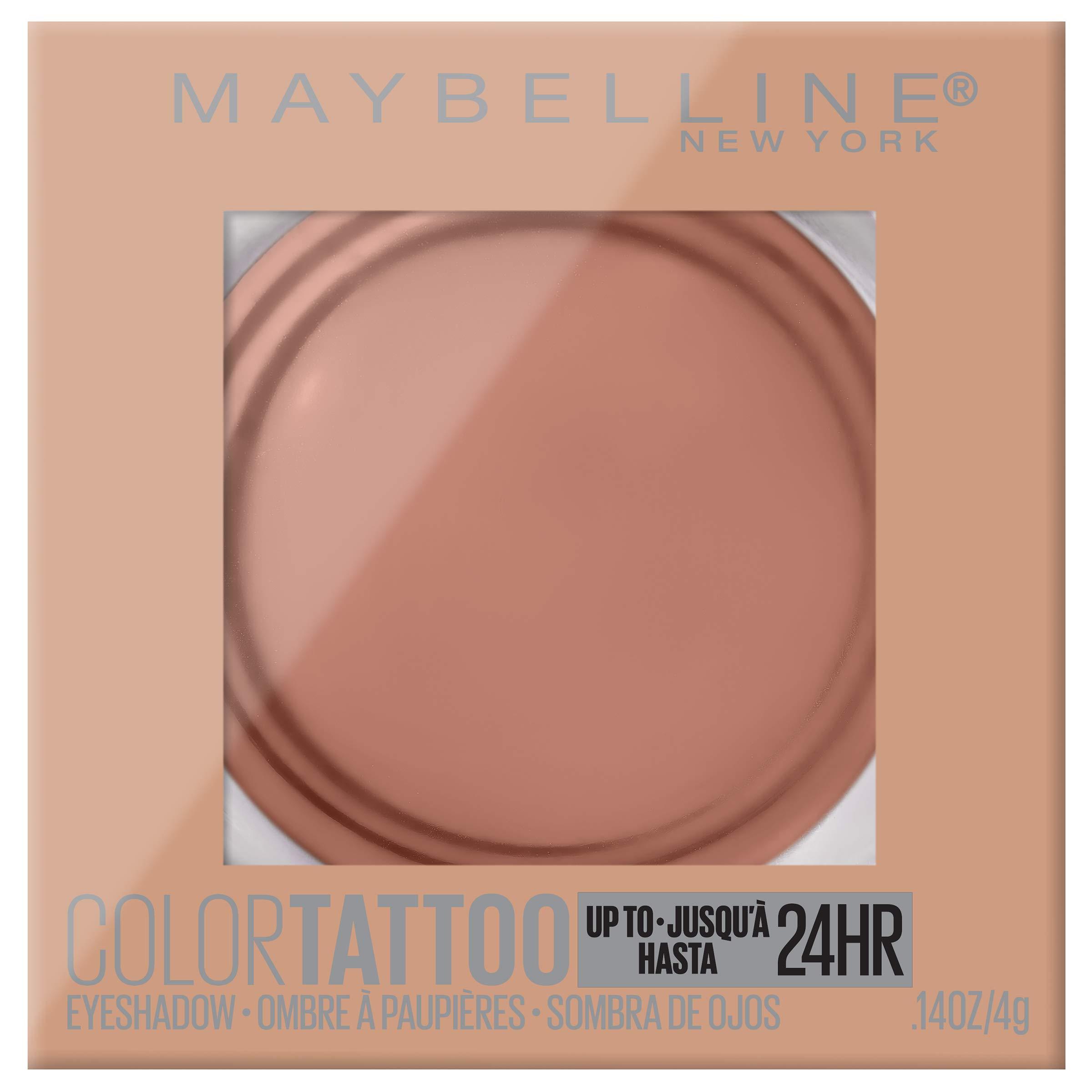 Maybelline New York Color Tattooup to 24Hr Longwear Waterproof Fade Crease Resistant Blendable Cream Eyeshadow Pots Makeup, Urbanite, 0.14 oz