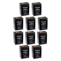ExpertPower 6 Volt 4.5 Amp Rechargeable Battery (EXP645) - 10 Pack
