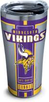 Tervis NFL Minnesota Vikings Blitz Stainless Steel Insulated Tumbler with Clear and Black Hammer Lid, 20 oz, Silver