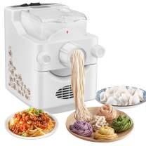 (US IN STOCK) Automatic Pasta Maker, Electric Noodle Maker with 12 Noodle Shape Molds for Making Spaghetti Fettuccine Angel Hair Macaroni Penne Dumpling Skin