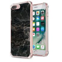 Case Compatible for iPhone 7 Plus 8 Plus/iPhone 7 8 Bumper Silicone Slim Flexible 360 Full-Body Floral Pattern Cover