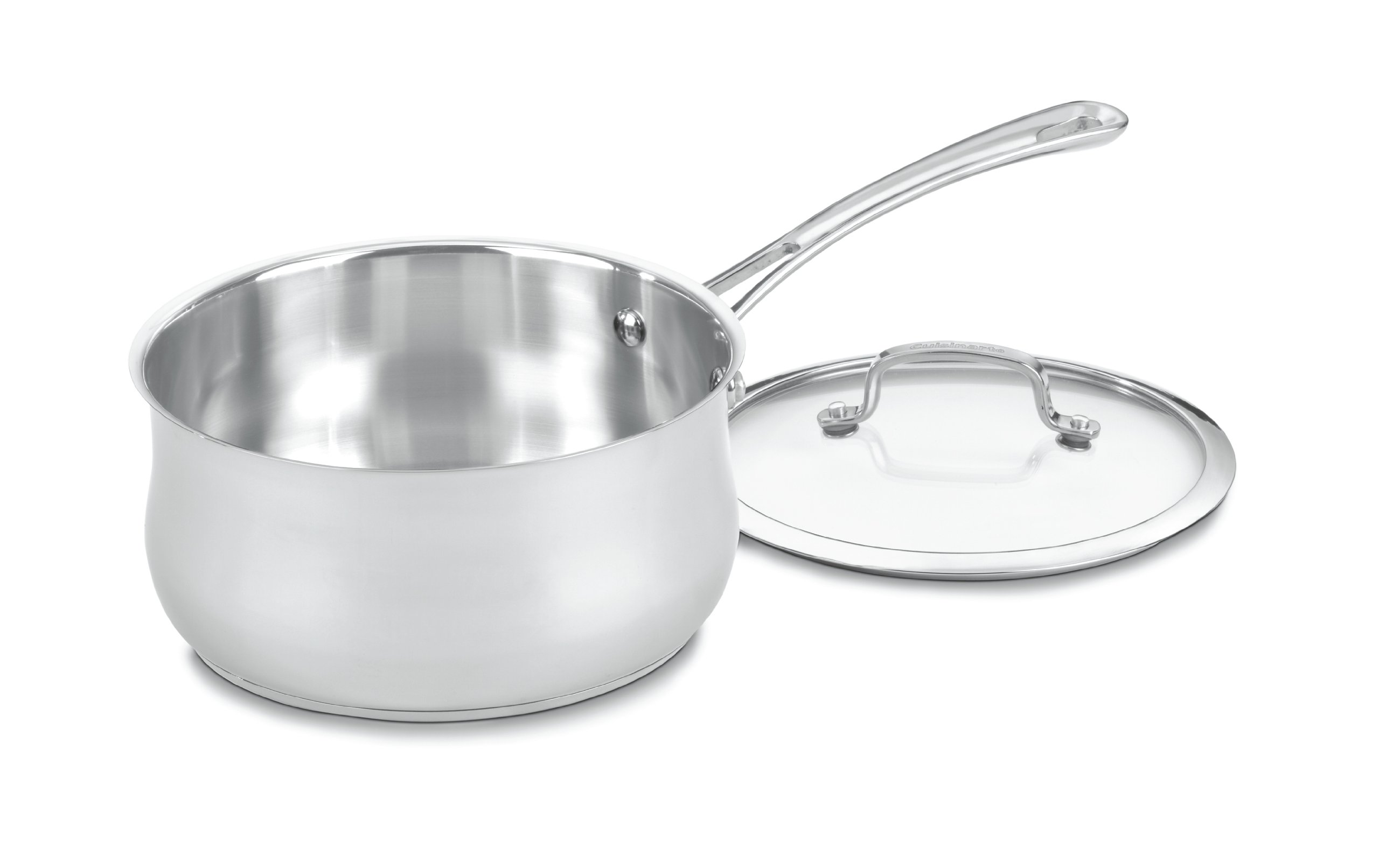 Cuisinart 4193-20 Contour Stainless 3-Quart Saucepan with Glass Cover
