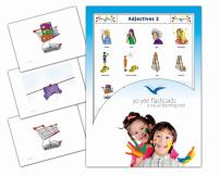 Yo-Yee Flashcards - Adjectives and Opposites Flash Cards - Set 2 - Vocabulary Picture Cards for Toddlers 2-4, Kids, Children and Adults