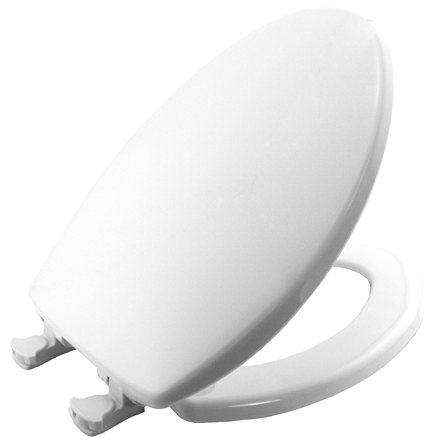 MAYFAIR 180EC 000 Toilet Seat will Never Loosen and Easily Remove, ELONGATED, Long Lasting Plastic, White