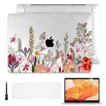 Batianda Case for MacBook Pro 16 inch 2019 Release Model A2141, Hard Shell Case for Newest MacBook Pro 16-inch Retina Display with Touch Bar & Touch ID, Floral and Butterfly