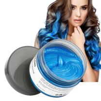 Hair Color Wax Wash Out Hair Color Instant Blue Hair Color Wax Temporary Hairstyle Cream 4.23 oz Hair Pomades Hairstyle Wax for Men and Women (Blue)