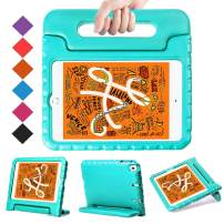 "BMOUO Kids Case for New iPad Mini 5 2019 /iPad Mini 4 2015 - Light Weight Shockproof Protective Convertible Handle Stand Case Cover for iPad Mini 5th Generation 7.9"" 2019 (Latest Model) - Turquoise"