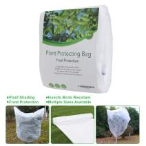 "PHI VILLA Plant Protector Bag Frost Protection Cover Plant Cover, 1.2 oz, 32""x32"", 2 Pack"