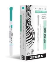 Zebra Pen Mildliner, Double Ended Highlighter, Broad and Fine Tips, Summer Green, 12-Count