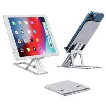 """Phone Stand for Desk, Tenlamp Cell Phone & Tablet Dock, Portable Aluminium Alloy Phone Pro Holder Accessories for Office and Home Supply, Compatible with 4-12"""" iPhone Android Smartphone, ipad, Kindle"""