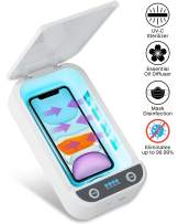 UV Light Sanitizer Portable UV Cell Phone Sterilizer Case with USB Cable Aroma Diffuser UV Sanitizer Box Disinfector Cleaner for iOS Android Smartphone, Jewelry, Watches, Masks, Keys