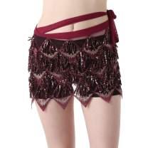 Belly Dance Hip Scarf - Hip Mini Skirt Belly Dancing Belt Waist Chain Tassel Shawl Wraps Belts for Women/Girls