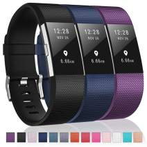 Humenn Bands Compatible with Fitbit Charge 2, 3 Pack Classic & Special Edition Replacement Bands for Fitbit Charge 2, Women Men