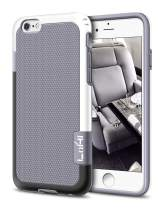 """Compatible with iPhone 6s/6 Case, LoHi [Extra Front Raised Lip] Hybrid Impact 3 Color Shockproof Rugged Soft TPU & Hard PC Bumper Cover 4.7"""" - Grey"""
