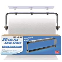 ORLESS Adhesive Paper Towel Holder Under Cabinet & Wall Mount, No Drilling Suitable for Kitchen Bathroom - Black