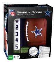 MasterPieces NFL Dallas Cowboys Shake N' Score Travel Dice Game, For 2 Players, Ages 6+
