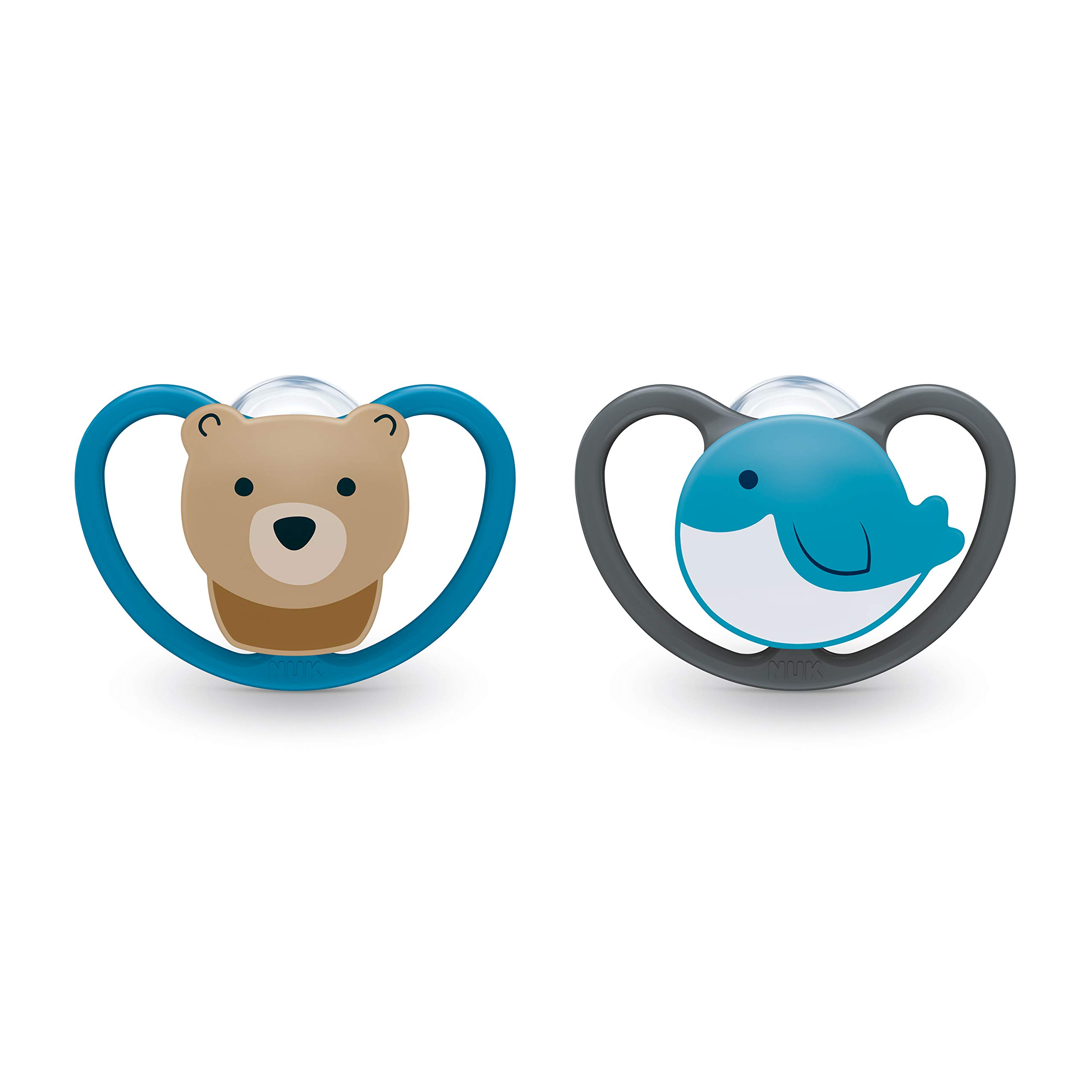 NUK Space Orthodontic Pacifier, 0-6 Months (2 Count)