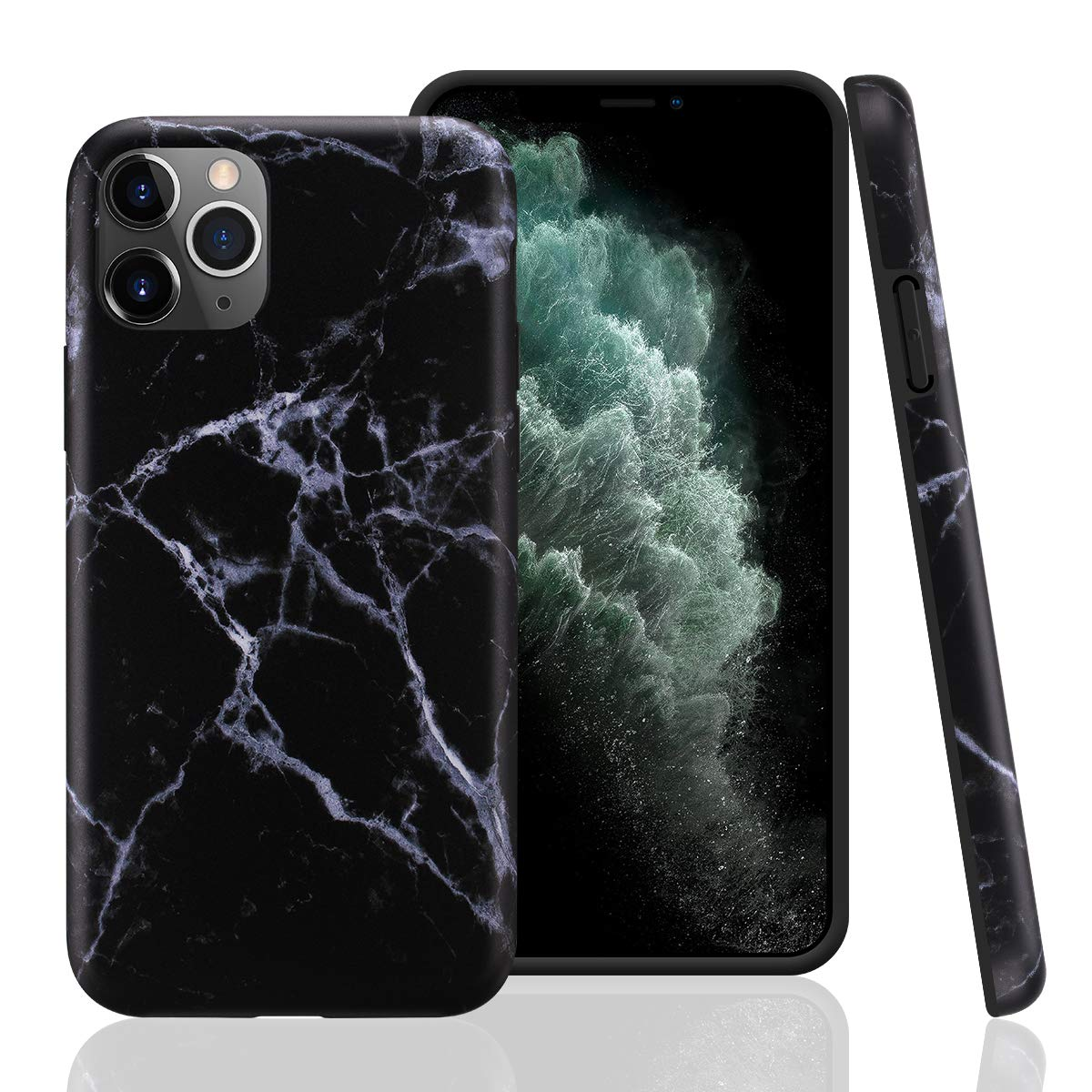 GOLINK Case for iPhone 11 Pro,Marble Series Slim-Fit Ultra-Thin Anti-Scratch Shock Proof Dust Proof Anti-Finger Print TPU Gel Case for iPhone XI Pro 5.8 inch(2019 Release)-Black Marble