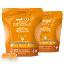 Method Laundry Detergent Packs, Ginger Mango, 42 Count, 2 pack, Packaging May Vary