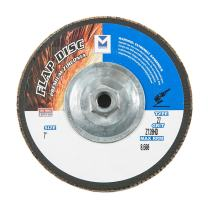 "Mercer Industries 263H120 Zirconia Flap Disc, High Density, Type 27, 7"" x 5/8"" 11 Thread, Grit 120, 10 Pack"