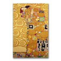 Fulfillment by Gustav Klimt, 18x32-Inch Canvas Wall Art