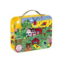 Janod 24 Piece The Farm Observation Puzzle - Family Puzzle Night for Ages 3 Years +