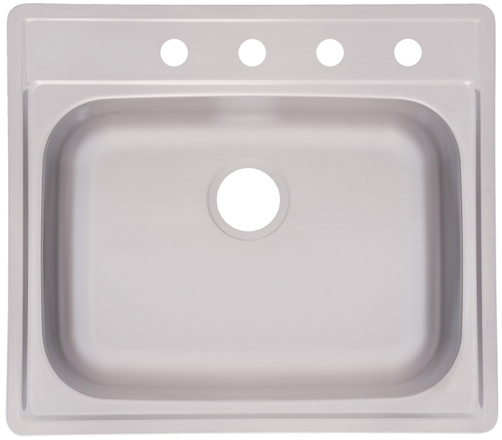 "Kindred FSS804NB Single Bowl Stainless Steel 25"" x 22"" in Topmount Sink"