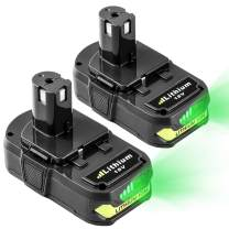 2-Pack 3.6Ah Lithium Battery for Ryobi 18V Lithium Battery Compatible with 18 Volt Battery 18L50 ONE+ P104 P105 P102 P103 P107 P108 P109 ONE+ Cordless Tool Batteries