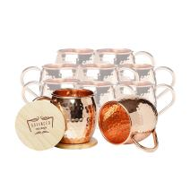 Set of 10 Advanced Mixology Barrel Mugs (Copper Handle)