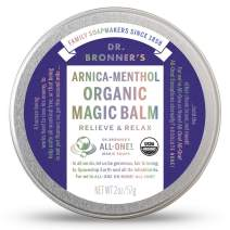 Dr. Bronner's - Organic Magic Balm (Arnica-Menthol, 2 Ounce) - Made with Organic Beeswax and Organic Hemp Oil, Relieves and Relaxes Sore Muscles and Achy Joints, Moisturizes and Soothes Dry Skin