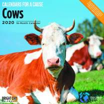 2020 Cows Wall Calendar by Bright Day, 16 Month 12 x 12 Inch, Farm Animals, for a Cause Collection