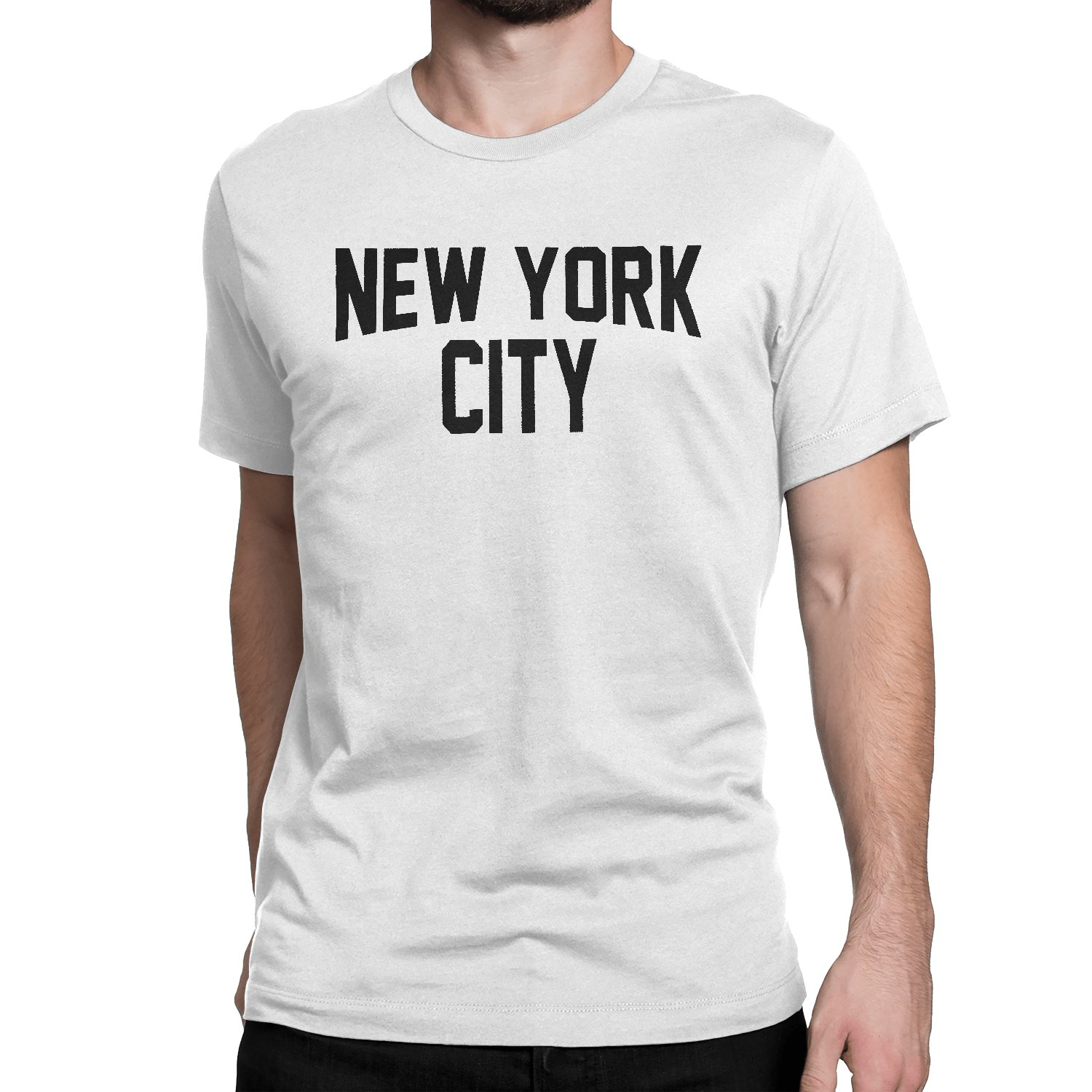 New York City Unisex T-Shirt Screenprinted White Lennon Tee Shirt
