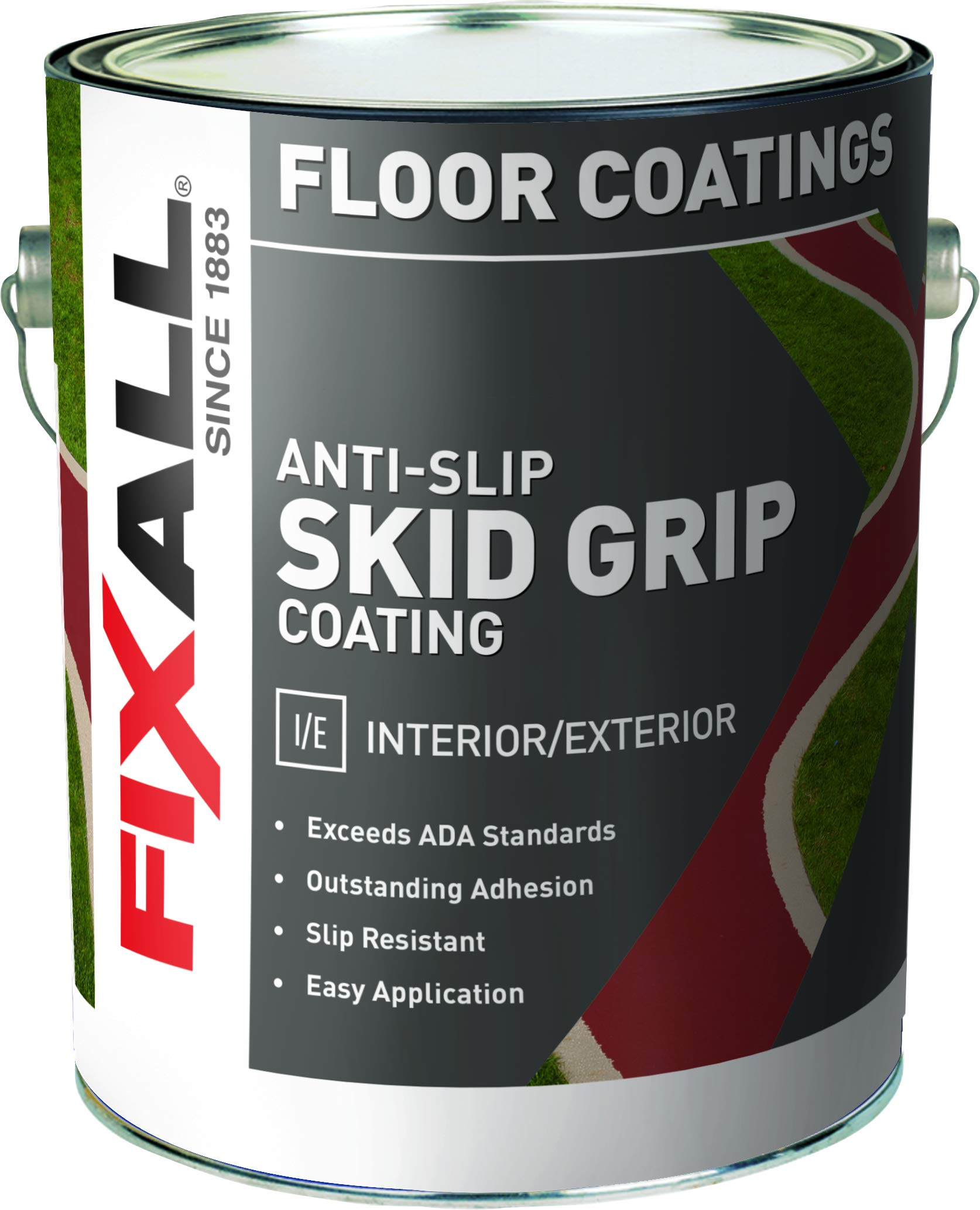 Skid Grip Anti-Slip Paint, 100% Acrylic Skid-Resistant Textured Coating (Emerald)