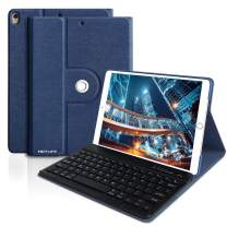iPad Air 3 Keyboard Case 10.5 for iPad Pro 10.5 2017/iPad Air 3rd Gen 2019, Lightweight iPad Case with Detachable Wireless Bluetooth Keyboard, Protective Case(No Pencil Holder) for iPad Air 10.5,Blue