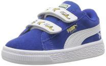 PUMA Kids' Minions Suede Hook and Loop Sneaker
