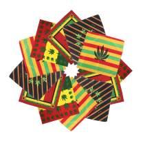 ba knife Bandanas 100% Cotton Paisley Print Head Wrap Scarf Wristband Headbands Hairscarf for Men and Women 12 Pcs
