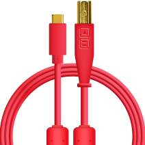 Chroma Cables: Audio Optimized USB-C to USB-B Cable with 56K Resistor (Red)
