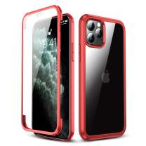 L-FADNUT Case for iPhone 11 Case Full-Body Rugged Clear Bumper Case with Built-in Screen Protector Heavy Duty Protection Anti-Scratched Slim Cases for iPhone 11 Red
