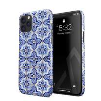 BURGA Phone Case Compatible with iPhone 11 PRO - Blue City Moroccan Tiles Pattern Mosaic Cute Case for Women Thin Design Durable Hard Plastic Protective Case