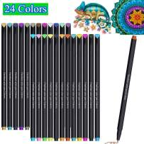 Lemical 24 Colors Journal Fineliner Pens Fine Point Markers Drawing Pens for Mother's Day/Father's Day Card Makig Journaling Planner Note Coloring Book Office School Supplies Art Projects