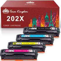 Toner Kingdom Compatible Toner Cartridge Replacement for HP 202X CF500X for HP Color Laser Jet Pro M281fdw M254dw M281cdw M254dn M254nw M280 M281 Printer CF500X CF501X CF502X CF503X