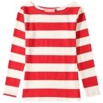 SSLR Big Girl's Crew Neck Long Sleeve Cotton Stripe Tee Shirt