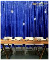 ShinyBeauty 20FTx10FT-Royal Blue Sequin Fabric Backdrop, Glitz Photography Curtain for Wedding/Event