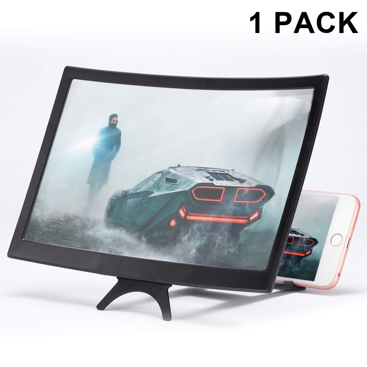 Solid Wood Grain Foldable Mobile Phone Screen for All Smart Phone Model and Gaming KOBWA 12 Screen Magnifier for Smartphone Mobile Phone 3D Magnifier Projector Screen for Movies Videos